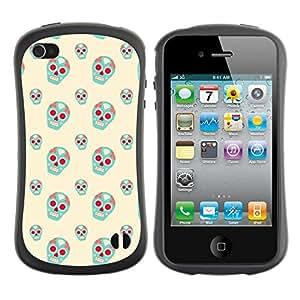 ArtSpace Premium Hybrid Back Case Cover Apple iPhone 4 / 4S ( Blue Skull )