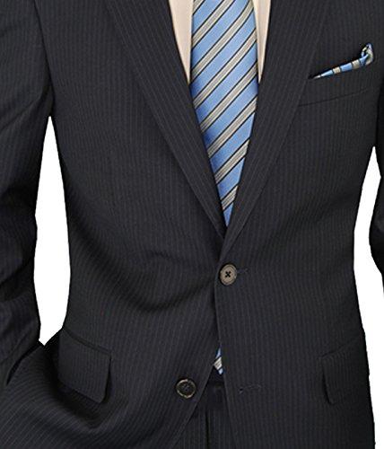 Salvatore Exte Men's Suit Modern Two Button 2 piece Striped (40 Regular, Dark Navy) by Salvatore Exte (Image #5)