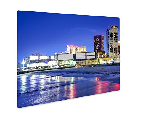 Ashley Giclee Metal Panel Print, Atlantic City New Jersey Cityscape, Wall Art Decor, Floating Frame, Ready to Hang 8x10, AG6320131