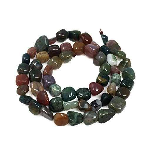 (Top Quality Natural Indian Agate Gemstone Center Drilled Oval Rice Stone Beads 16