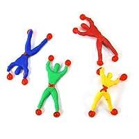 """homiki 6Pcs Jouet""""Window Crawler/Wall Walker"""" Sticky Wall Walkers, Sticky Men,Escalade Homme Style Education Jouets pour enfants Bébé avec couleur aléatoire"""