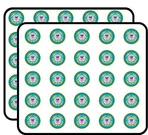 U.S. Coast Guard Seal Sticker for Scrapbooking, Calendars, Arts, Kids DIY Crafts, Album, Bullet Journals 50 Pack