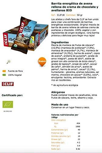 Barrita energética de avena rellena de crema de chocolate y avellanas BIO - CLIF - caja de 12 uds de 50 gr. (Total 600 gr.): Amazon.es: Alimentación y ...