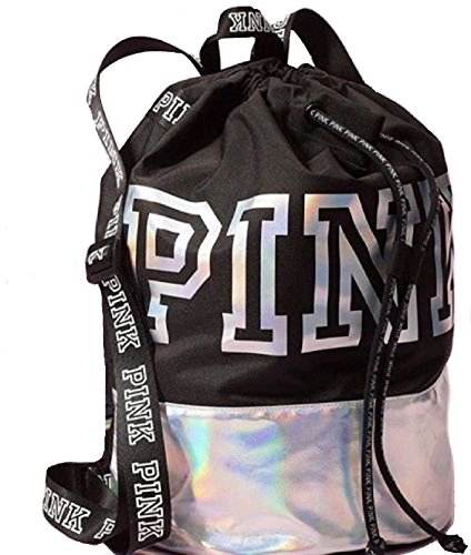 Victoria's Secret PINK Iridescent Limited Edition 2017 Drawstring Backpack