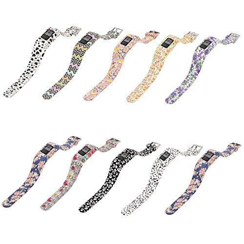 AUTRUN Band For Garmin Vivofit 3 and Garmin Vivofit JR,12 Color Styles Fitness Silicon Bracelet Strap Replacement Bands for Garmin Vivofit 3 and Vivofit JR(No Tracker (Style B:10Pcs) by AUTRUN