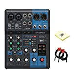 Yamaha MG06X Analog 6 Channel Mixer with 2 Microphone Preamps, 4...