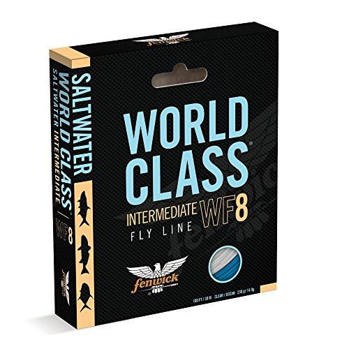 Fenwick Wcflsif9 World Class Saltwater Intermediate Floating Fishing Line, Ivory/Ocean Blue, 100'/ 260 Grains ()