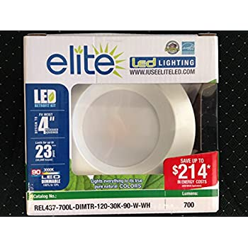 Tcp elite 11w 5 6 inch recessed downlight retrofit trim kit in warm elite rel437 700l dimtr 120 30k 90 w wh mozeypictures Choice Image