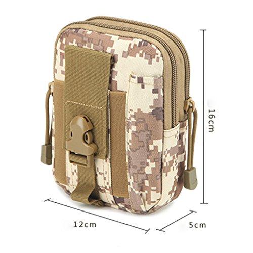 Miaomiaogo Sacchetto di cinghia tattica all'aperto della cinghia di vita Sacchetto della borsa del telefono mobile del raccoglitore di escursione