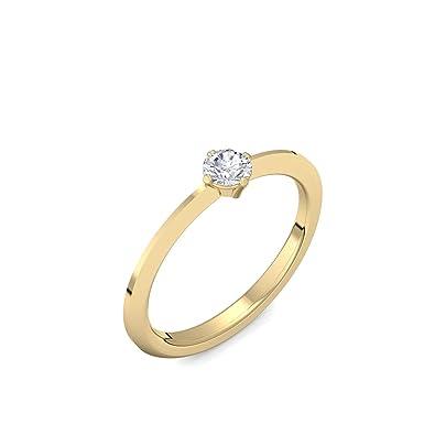 Verlobungsring Vorsteckring Gold Ring Diamant 750 Inkl Luxusetui