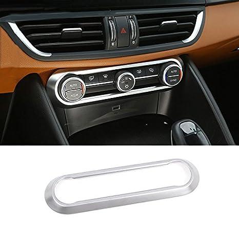 ABS cromado centro aire acondicionado ajuste adhesivos decorativos adornos accesorios: Amazon.es: Coche y moto