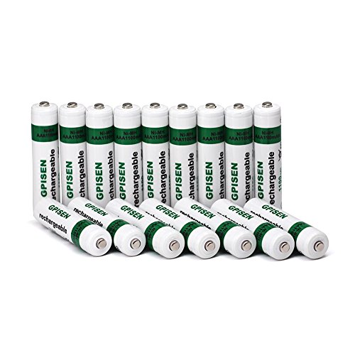GPISEN Ni-MH AAA1100mAh Rechargeable Batteries 16 Pack
