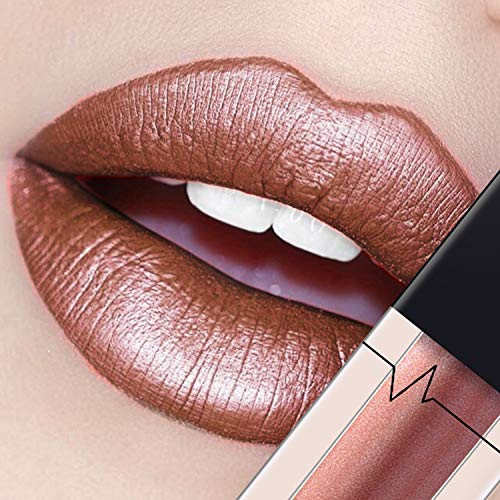 Long Lasting Metallic Women Shining Color Natural Moisturizing Lip Gloss Lipstick Long Lasting Sexy Women Lip Makeup ()