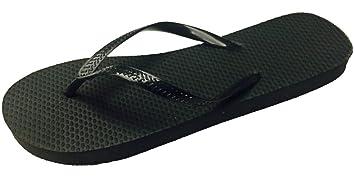 Wholesale Ladies Solid Black Flip Flops 72 Pairs