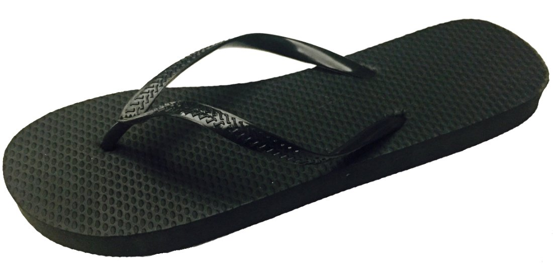 df5998621 Amazon.com  Wholesale Ladies Solid Black Flip Flops