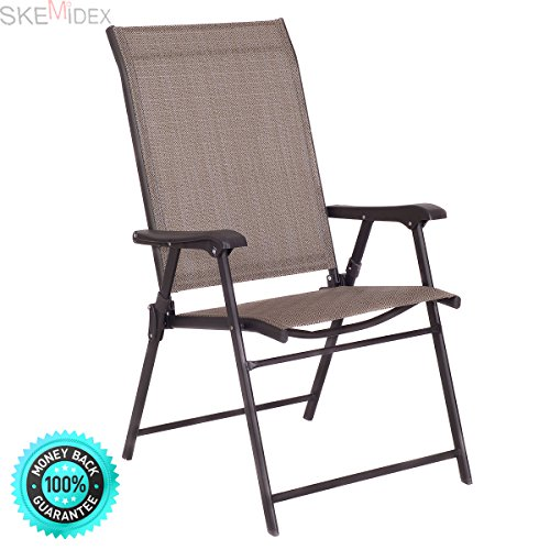 Outdoor Patio Furniture For Seniors: SKEMIDEX—Set Of 2 Patio Folding Sling Chairs Furniture