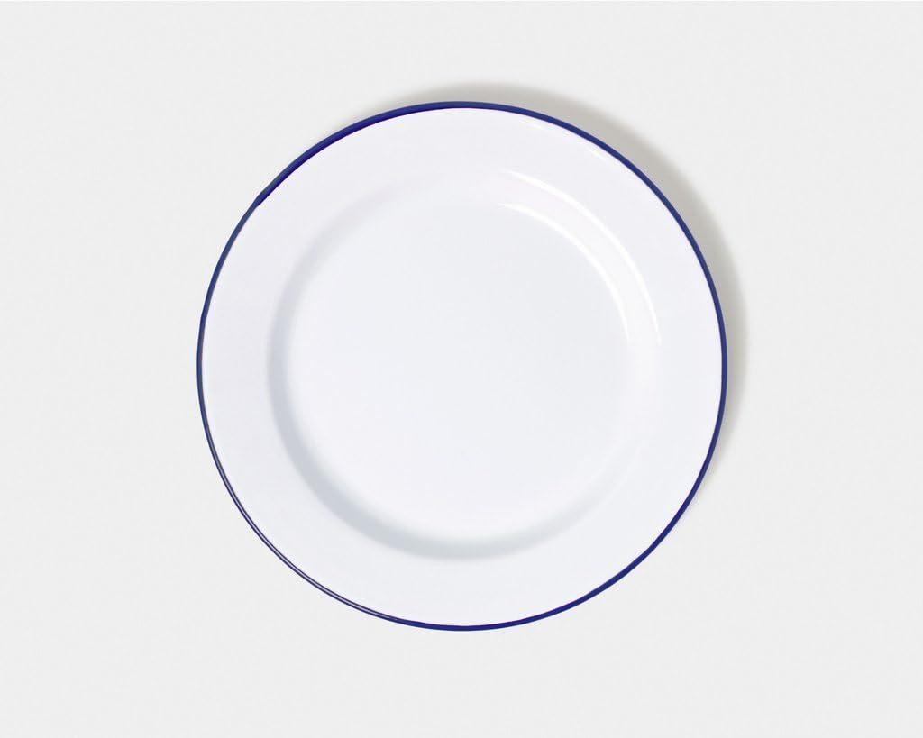 Mug Bowl Falcon Enamel Traditional White Camping Dish Dinner Set Dinner Plate