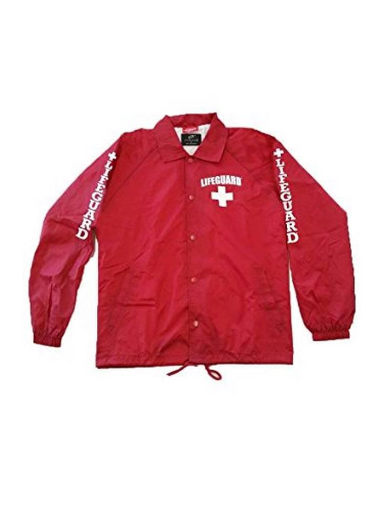 Officially Licensed LIFEGUARD Snap Button Coach's jacket Water Resistant