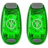 LED Safety Light 2 Pack - Nighttime Visibility for Runners, Cyclists, Walkers, Joggers, Kids, Dogs, Relays & More - Clip to Clothes Strap to Wrist, Ankle, Bike, Collar, or Just About Anywhere!