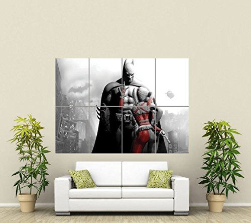 Batman And Harley Quinn Giant Art Poster Picture Print