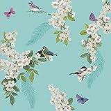 Arthouse 670400 Mitzu Duck Egg Wallpaper