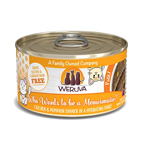 Weruva Classic Cat Paté, Who Wants to be a Meowinaire? with Chicken & Pumpkin, 3oz Can (Pack of 12)