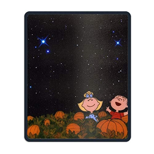 Mouse Pads with Design,with Stitched Edges,Peanuts Halloween Non Slip Rubber Mouse Mat ()