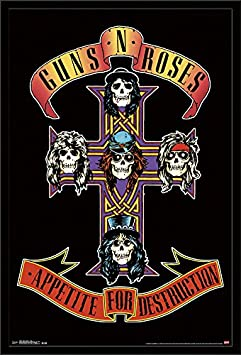 Trends International Wall Poster Guns N Roses Cross, 22.375 x 34