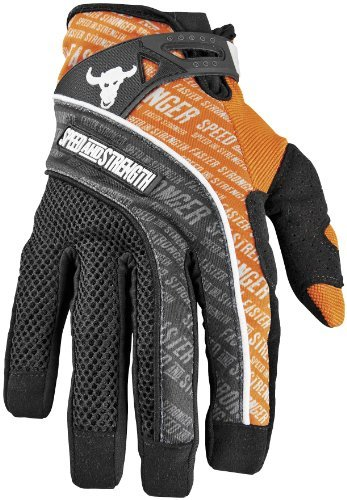 Speed & Strength Mens Lunatic Fringe Mesh Textile Motorcycle Gloves Orange XXL 2XL