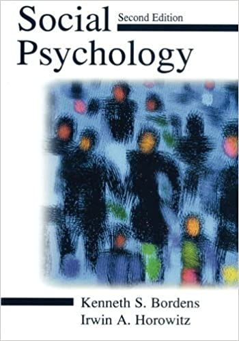Amazon social psychology 9780805835205 kenneth s bordens social psychology 2nd edition fandeluxe Gallery