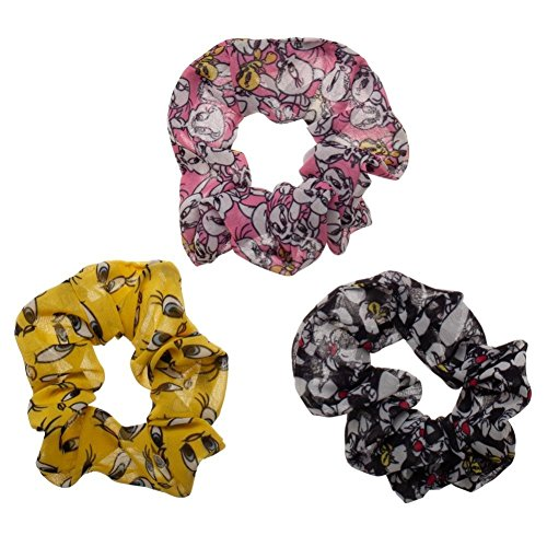 Looney Tunes Sylvester and Tweety 3 Pack of Scrunchies Hair ()
