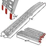 75-ft-Aluminum-Plate-Top-Lawnmower-ATV-Truck-Loading-Ramps-trailer-pair-ATV001