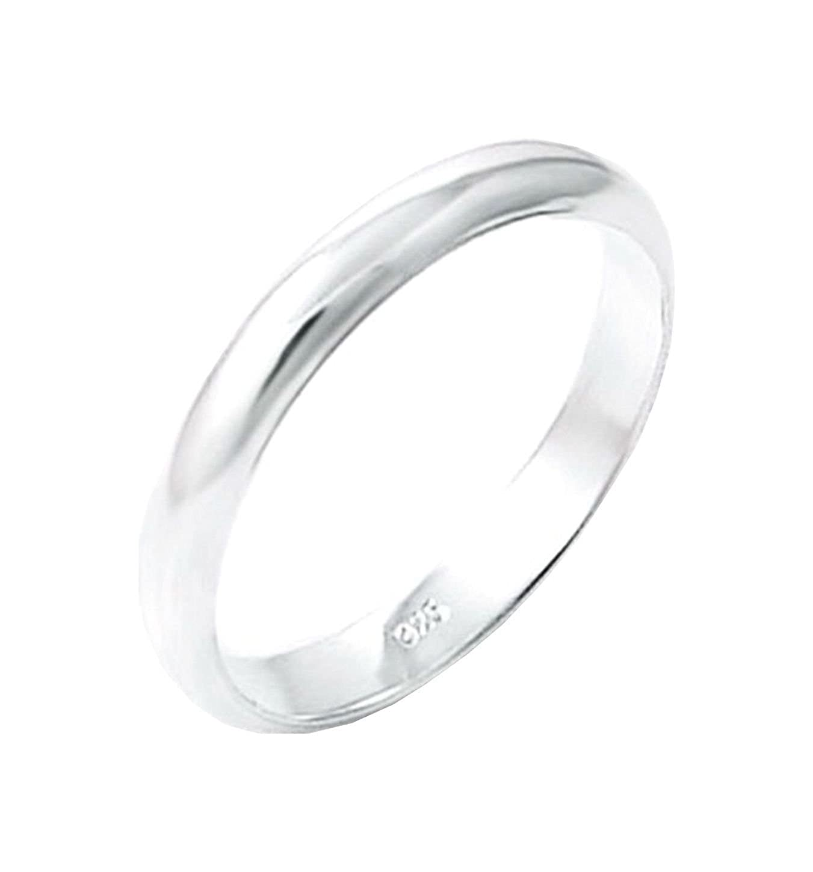 Wedding Band 3 mm wide Solid .925 Silver ring designer