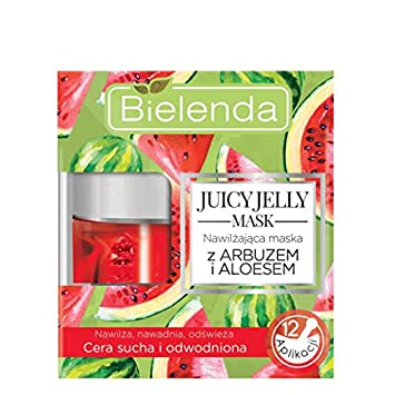 Bielenda Juicy Jelly máscara hidratante facial máscara sandía y aloe 50 g: Amazon.es: Belleza