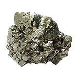 WholesaleGemShop Natural Pyrite Crystal Stone Natural Rough Mineral Specimen-300 gm.