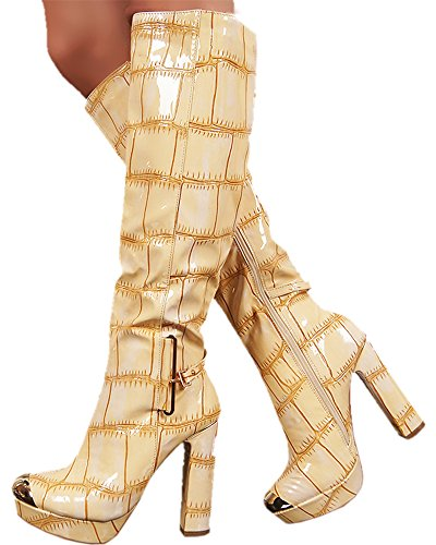 Jennika JennikaSully190 - Zapatillas altas mujer color crema