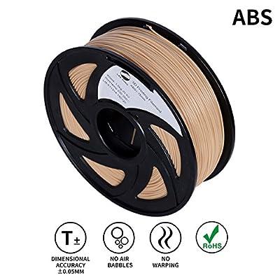 Lee Fung 1.75mm ABS 3D Printing Filament Dimensional Accuracy +/- 0.05 mm 2.2 LB Spool DIY Material Tools (Wooden)