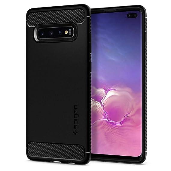 brand new 48854 3e2b1 Spigen Rugged Armor Designed for Samsung Galaxy S10 Plus Case (2019) -  Matte Black