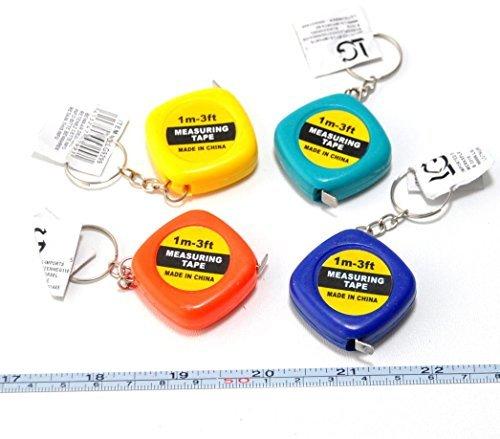 4 x llavero medidor de taller de la cinta de regla de un ...