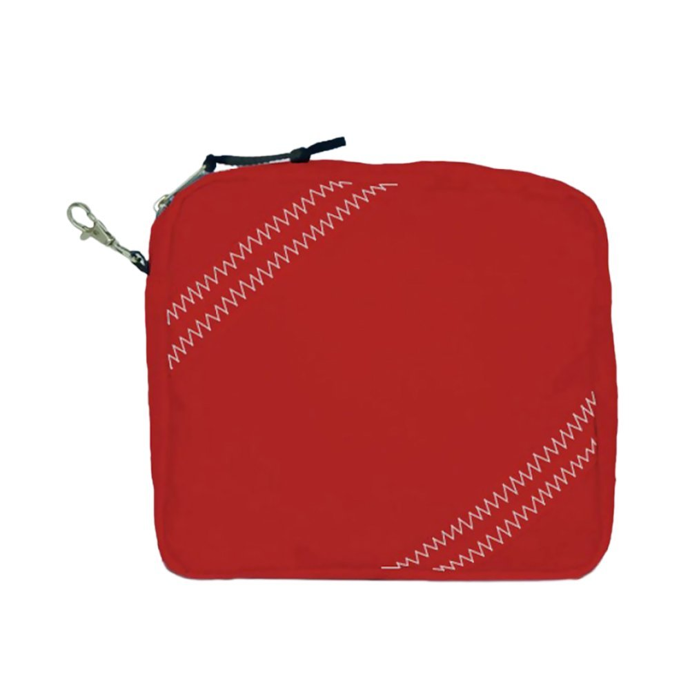 Sailorsbag Outdoor Travel Sailcloth Accessories Pouch True Red with Grey Trim electronic consumers