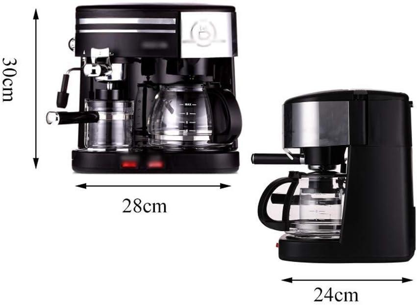 キッチンガジェット コーヒーメーカー、エスプレッソマシン、アメリカンコーヒーメーカー、ミルクマシン、ティーメーカー、ホームコーヒーメーカー、業務用コーヒーメーカー、280mm×240mm×300mm、ブラック(カラー:BLACK)