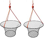 2 Pack of KUFA Sports Vinyl Coated Steel Ring Crab Trap (Size:ø30) with 50' Rope CT90x2 (La