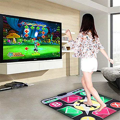 Puronic Non-Slip Dance Mats Rhythm and Beat Game Dancing Step Pads USB Lose Weight Pads Dancer Blanket with USB Entertainment for PC Laptop (Pattern 2, 8 mm Thick) by Puronic (Image #1)