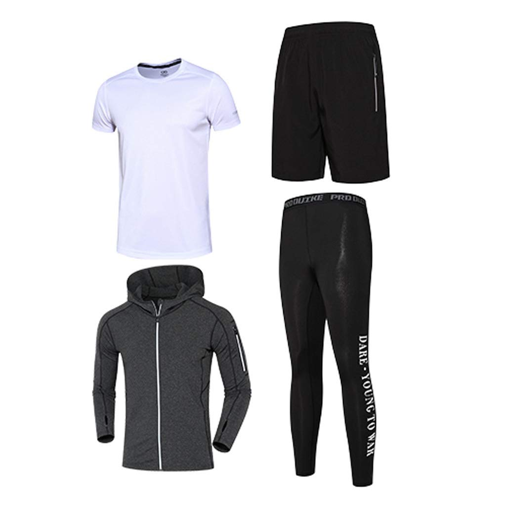 Lilongjiao Herren-Fitnessbekleidung Anzug Fitness schnell trocknende Kleidung Trainingsanzug Strumpfhosen Basketball Sportbekleidung Laufbekleidung
