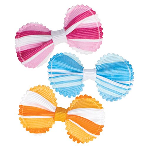 Aria Grosgrain Stripe Bows for Dogs, 100-Piece Canisters by Aria (Image #1)