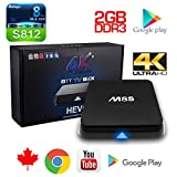 M8S Android TV Box 2GB 8GB Quad Core 64 bit s812 4K Wifi Streaming Media Player