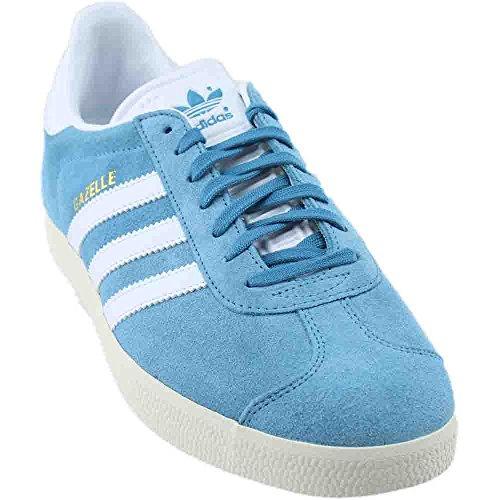 adidas Men's Gazelle Casual Sneakers Steel Blue/Gold Metallic