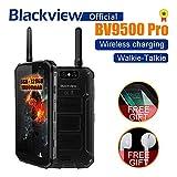 Blackview BV9500 Pro Smartphone, Full Netcom Walkie Talkie Interphone Wireless Fast Charge Android 8.1 Waterproof Dropproof Dustproof 10000mAh 6GB/128GB Dual Satellite Camera 13MP 16MP/0.3MP (Black)