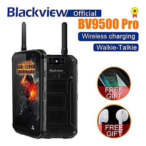 Blackview BV9500 Pro Smartphone, Full Netcom Walkie Talkie Interphone Wireless Fast Charge Android 8.1 Waterproof Dropproof Dustproof 10000mAh 6GB/128GB Dual Satellite Camera 13MP 16MP/0.3MP (Black) by LAIHUI (Image #8)