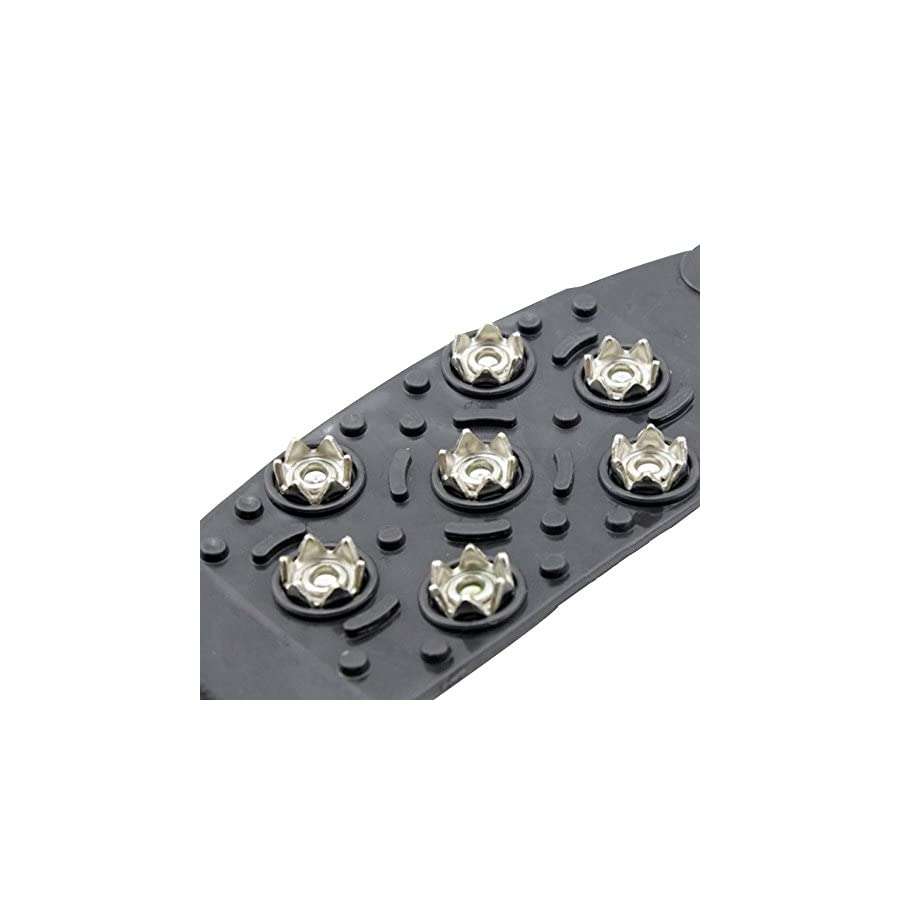 Calunce Easy Slip On, Outdoor Durable, 7 Steel Studs,stretchable, Prevent Slipping From Ice/snow
